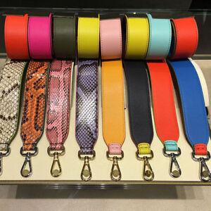 Snake-Skin-Print-Women-Strap-You-Colorful-Leather-For-Peekaboo-Hobo-Bag
