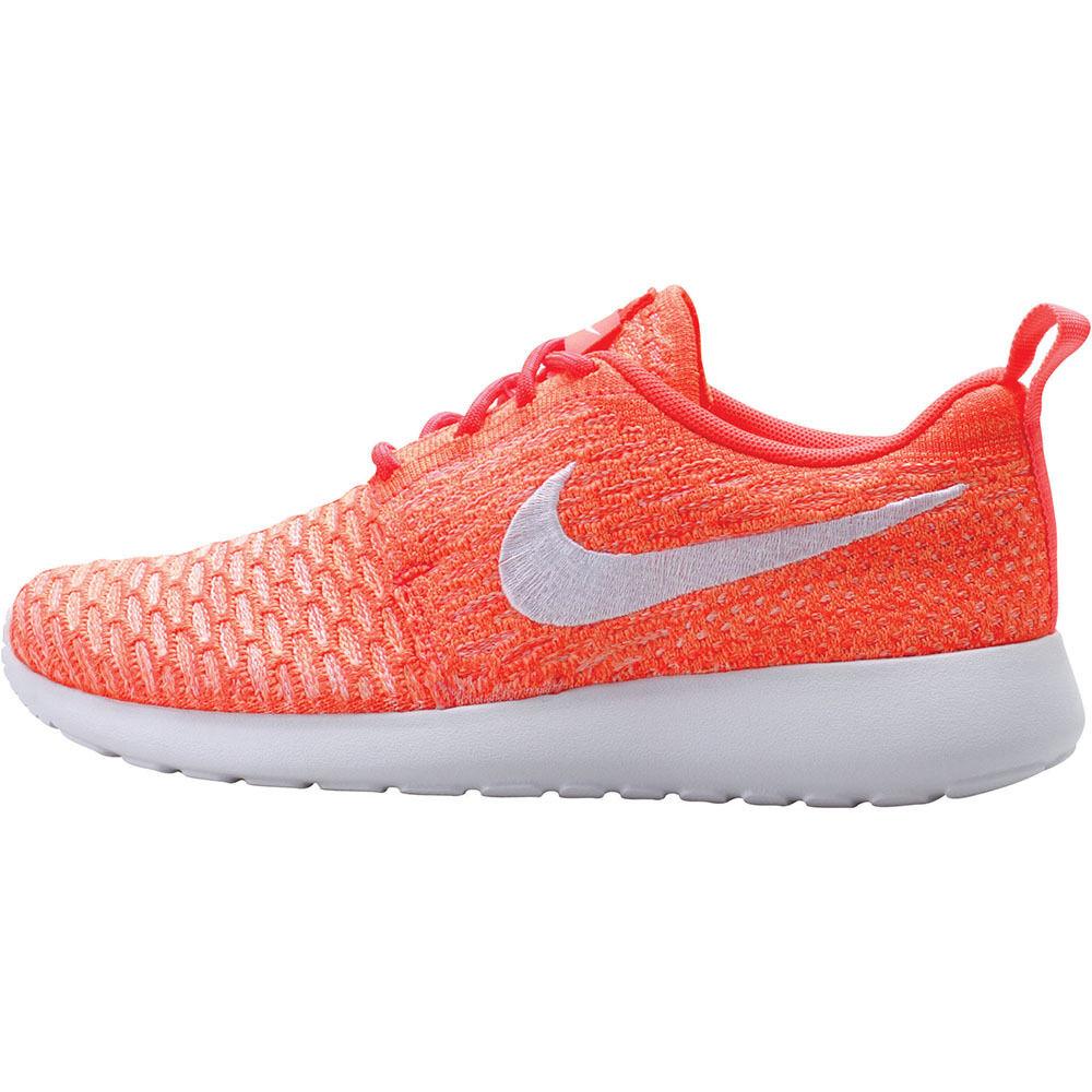WMNS Nike Rosherun Flyknit Glow Hot Lava Weiß Sunset Glow Flyknit Roshe One 704927 800 72de31