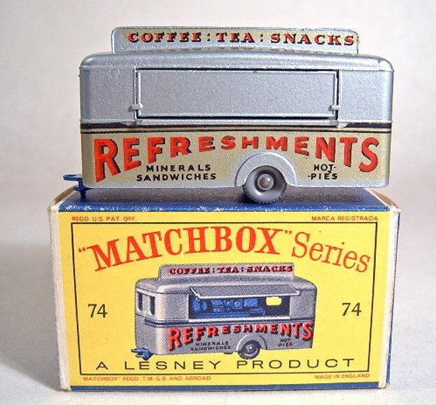 Matchbox RW 74 a Mobile Canteen bleu nuit plaque de sol Top dans  D  BOX