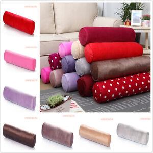 Cotton-Throw-Round-Long-Roll-Tube-Velvet-Pillows-Rectangular-With-Bolster-Cover