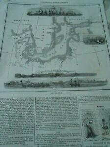 DernièRe Collection De Gravure 1854 - Carte De La Baltique