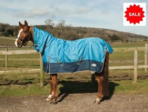 NEW-Rhinegold-Torrent-Full-Neck-Lightweight-Waterproof-Horse-Turnout-Rug