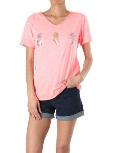 Coral shirt Pineapple T Pineapple Coral vw8Oq1v
