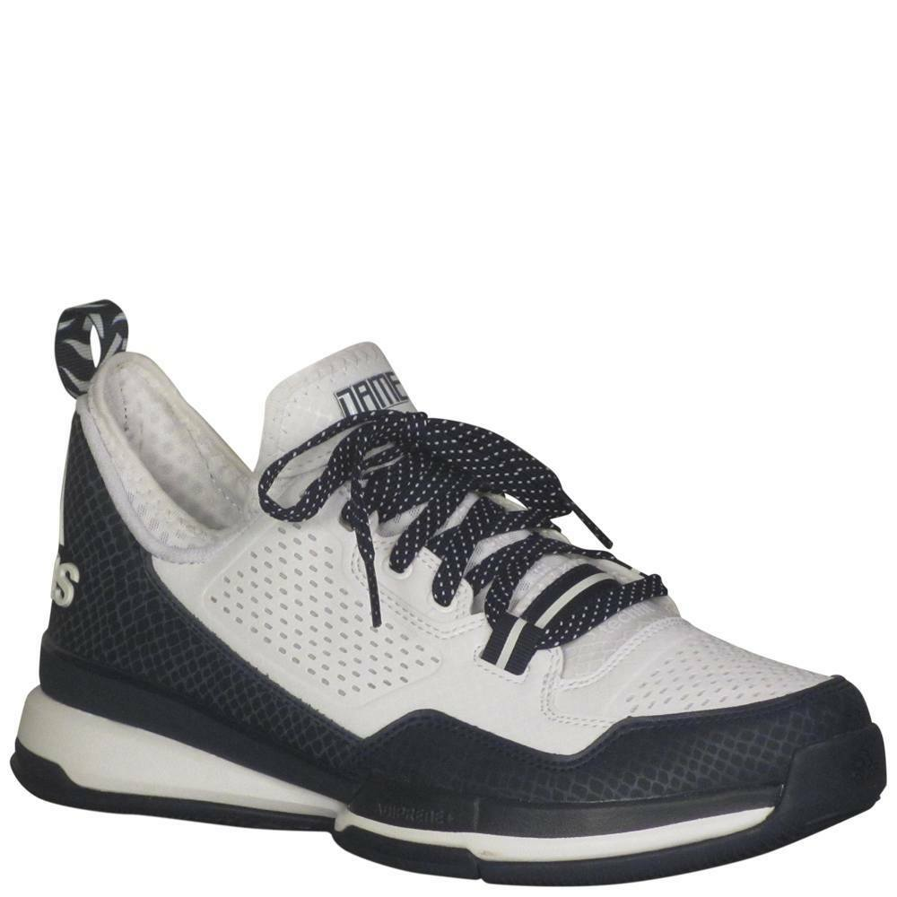 Men's Adidas D Lillard - White Collegiate Navy White - Width  med - Basketball