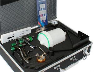 Profi-Lackierpistolenset-1-3mm-Spritzpistolenset-mit-viel-Zubehoer-amp-Alukoffer