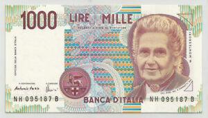 REPUBBLICA-ITALIANA-1000-Lire-034-Montessori-034-serie-H-FDS