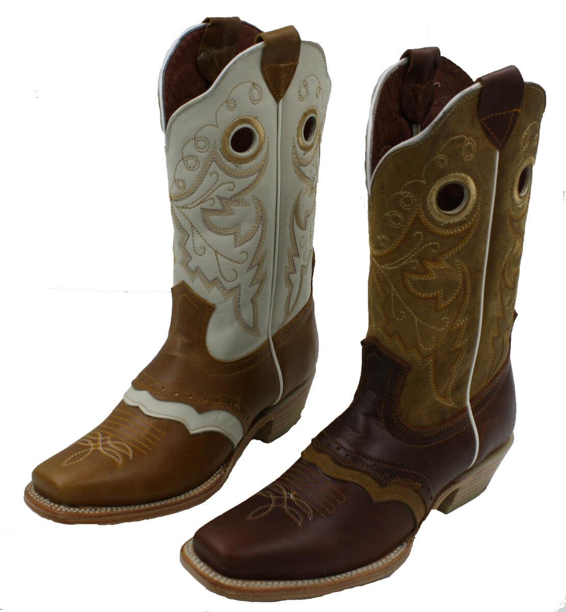 Cowgirl stivali donna Western cowhide autentici stivali di pelle  stile 098  nuovo stile