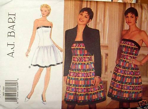A J Bari Fitted  Dress pattern jacket sz 14-18 saucy