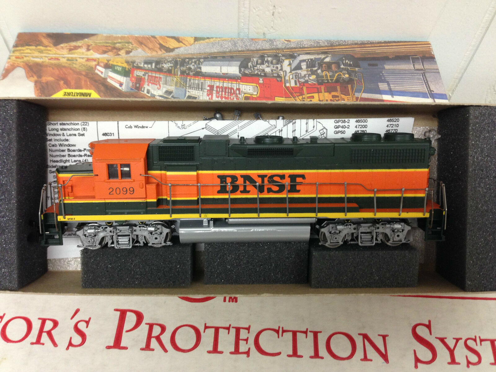 Athearn HO Scale Scale Scale Train GP38-2 energiaosso Engine BNSF  4619 02a5cf