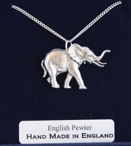 Elephant-Necklace-in-Fine-English-Pewter-Hand-Made-and-Gift-Boxed