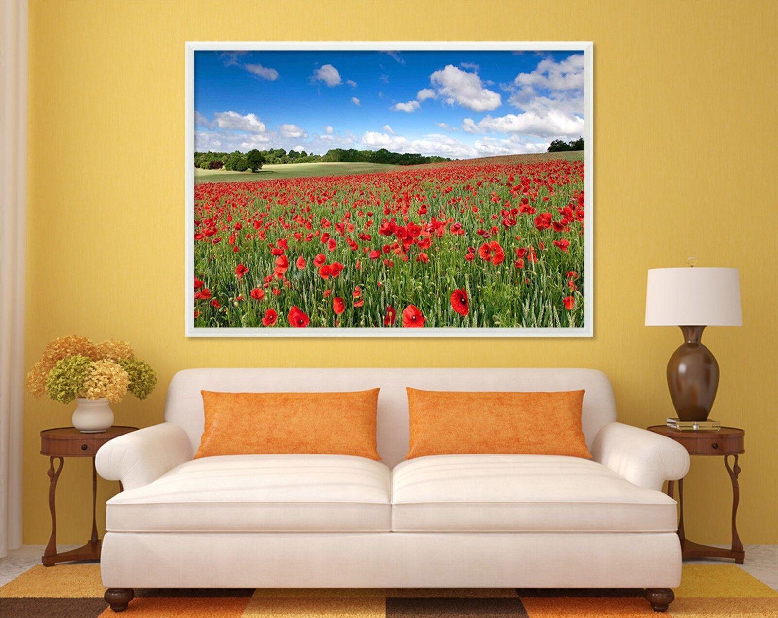 3D Flower Beautiful Nature 1 Framed Poster Home Decor Print Painting WALLPAPER