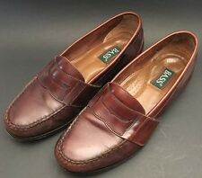 BASS  Size 10.5 M Brown Leather Penny Style Dressy Loafers