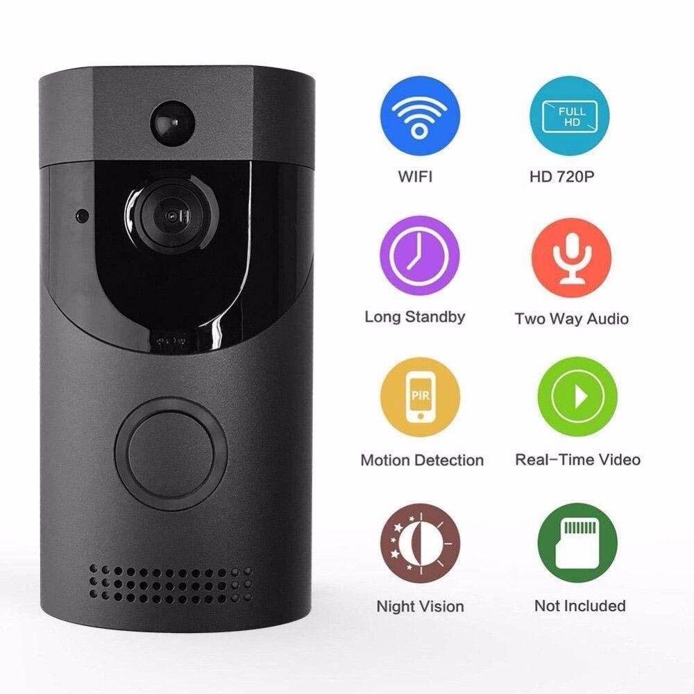 Smart Wireless WiFi 2.4G Video Doorbell Recorder IR Camera Phone Ring Intercom
