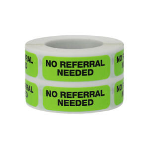"""No Referral Needed - Healthcare Labels 