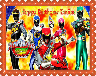 Groovy Power Rangers Megaforce All Colours 7 5 Cake Topper Rice Wafer Paper Funny Birthday Cards Online Inifodamsfinfo
