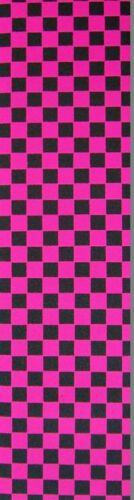 "Checker Fucsia Black Diamond Griptape 9 /"" x33 /"""