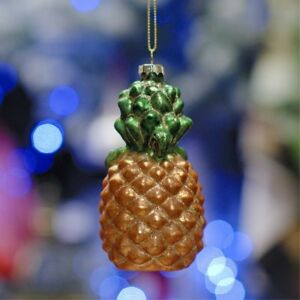 Christmas Pineapple.Details About Sass Belle Glass Glitzy Pineapple Bauble Gold Christmas Tree Decoration