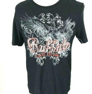 Buffalo-David-Bitton-Men-039-s-Naisel-Tshirt-SZ-L-Black-Graphic-Contemporary-NWT