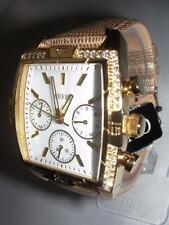 NEW GUESS LADIES PEARL DIAL GOLD TONE STAINLESS STEEL WATCH
