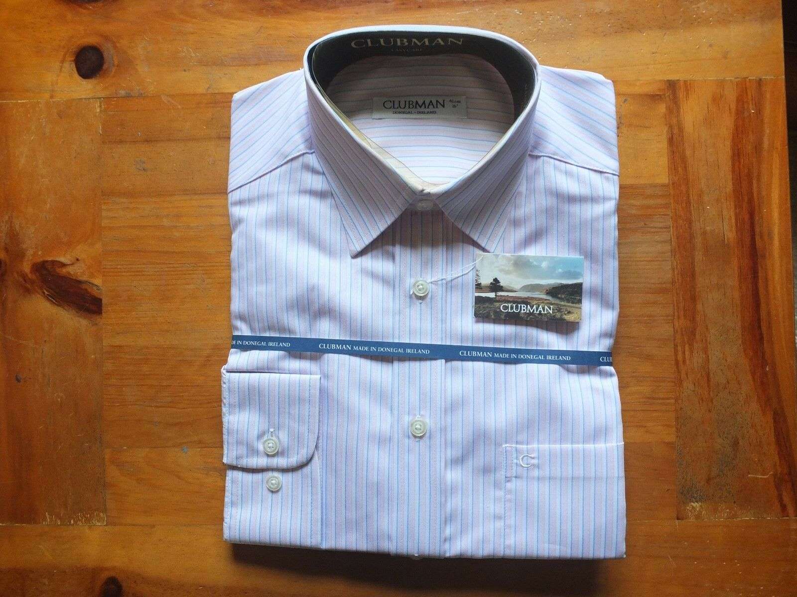 FOUR Mens Clubman Long Sleeve Shirts Size 16