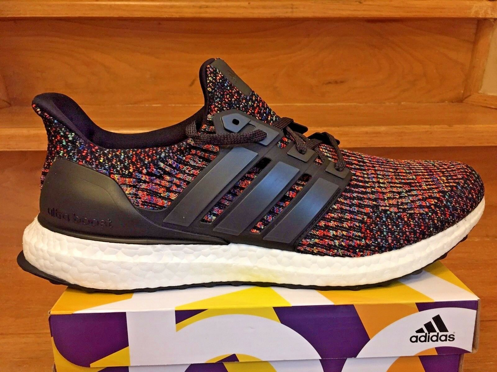 "Adidas Ultra Boost 3.0 LTD  Multicolor"" Rainbow PK Size 11.5 shoes (CG3004)"