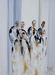 Moderne-Malerei-034-MAGIC-FREUNDE-034-HANDGEMALTES-UNIKAT-Olbild-von-Bozena-Ossowski