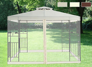 Image Is Loading Pavilion Metal Gazebo Sun Shade Marquee Mosquito Net