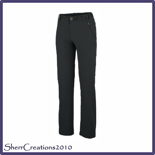 New Columbia Women s Maxtrail Pants Hiking Work Camp in Black Size L   180625-353 683e478fcd