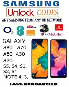 UNLOCK-CODE-SAMSUNG-GALAXY-A70-A50-A20-A10-S9-S8-S7-S6-S5-O2-EE-VODAFONE-NETWORK