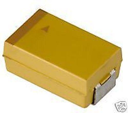 100pcs Size C 4.7uF//25V Tantalum Cap T491C475K025AS