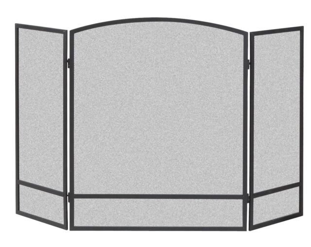 Panacea 3 Panel Fireplace Screen Enclosure Spark Guard Protects Floor Easy Arch