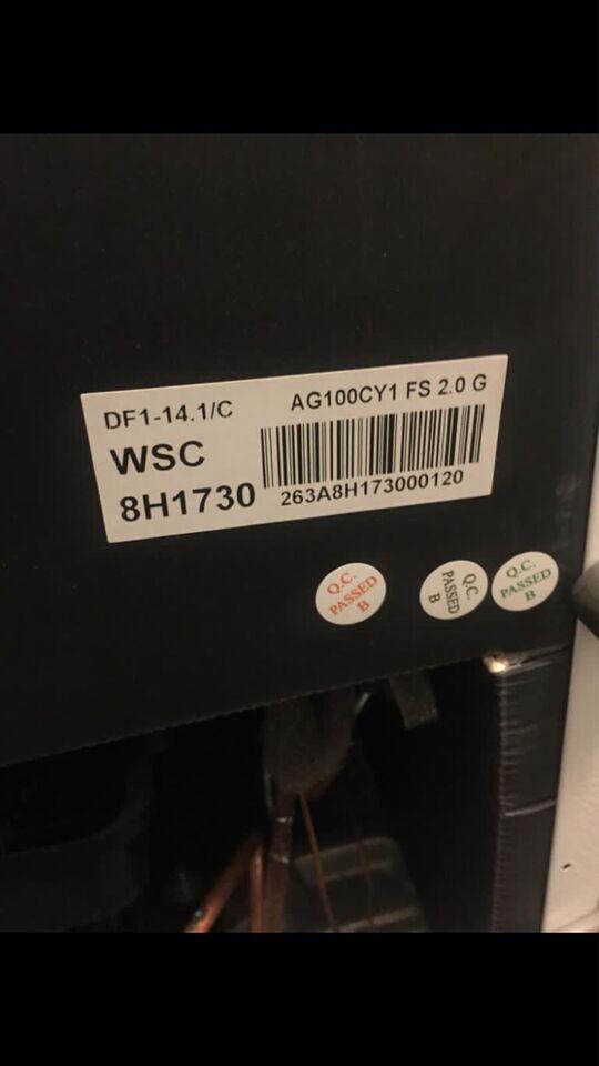 Køle/fryseskab, Wasco KF102W, 102 liter
