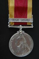 """STERLING SILVER  CHINA WAR MEDAL 1900, CLASP """"TAKU FORTS"""""""