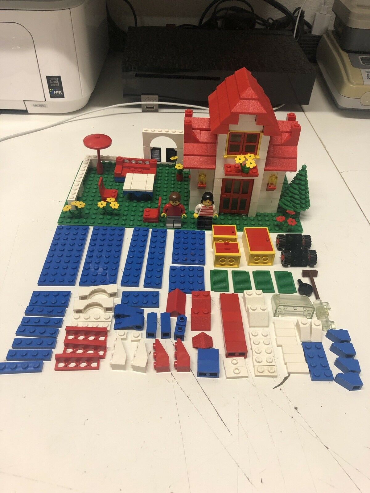 Lego 710 - 3 Maison Complète Époque Basic Building 710-3 Vintage Très Très Rare