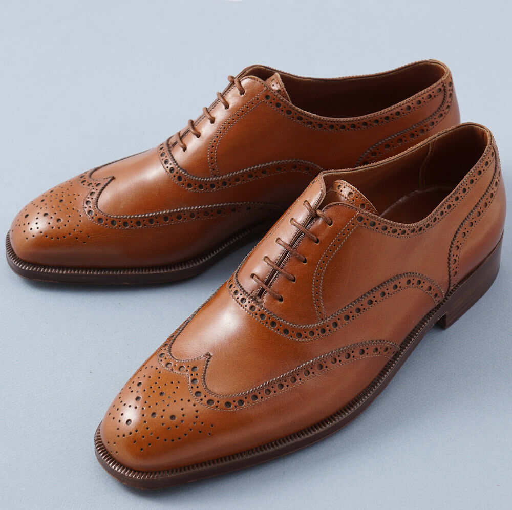 NIB  3600 SILVANO LATTANZI Acorn Brown Medallion Wingip Balmoral US 8 shoes