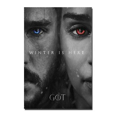 Game of Thrones 7 Art Silk Poster Print 12x18 24x36 inch Jon Snow Daenerys