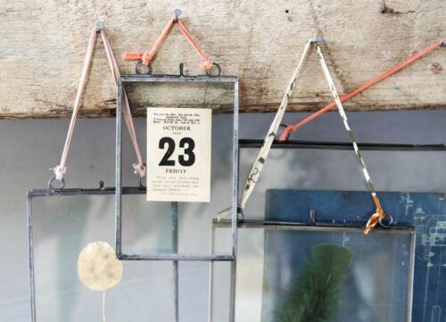 """Nkuku cadre photo zinc 4x6 /""""paysage Kiko Gris Verre Transparent Double Face"""