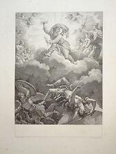 BELLE Gravure SCENE MYTHOLOGIQUE ZEUS FEMME HOMME MONT PARNASSE GRECE DIEUX 1808
