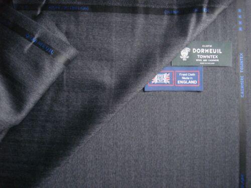 "3.4 M Dormeuil 95/% laine 5/% cachemire drap tissu /""Cashmere towntx/"" MADE IN ENGLAND"