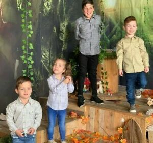 Kids-Children-039-s-Country-Carreaux-Classique-Tir-Chemises-Cartmel-Boys-amp-Girls