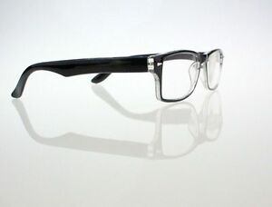 Mens Black Frame Reading Glasses : Black Frame Mens Reading Glasses Fashion Readers 1.0 1.5 ...