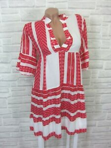 NEU Blogger Hängerchen Kleid Tunika Volant Print 36 38 40 ...
