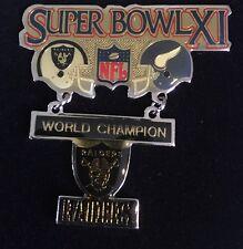 Large 2-piece Super Bowl XI World Champion Oakland Raiders Vs Vikings