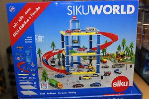 Siku-5505-Parkhaus-fuer-Autos-Parkgarage-Parkhaus-mit-Aufzug-NEU-in-OVP