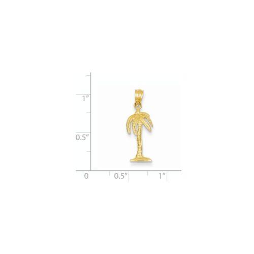 14K Yellow Gold Palm Tree Charm Pendant MSRP $123