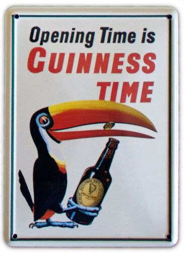 GUINNESS TOUCAN BOTTLE Small Vintage Metal Tin Pub Sign