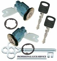 Ford Escort 1988-1990 Door Lock Cylinder Pair Set Tumbler Barrel 2 Keys