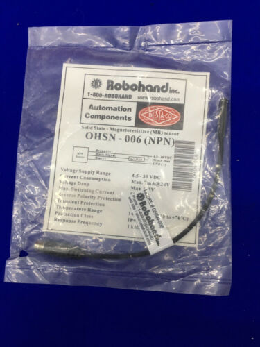 ROBOHAND OHSN-006 MAGNETORESISTIVE MR SENSOR NPN SOLID STATE