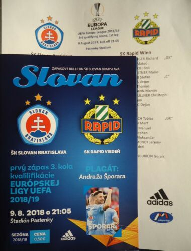 Rapid Wien Programm /& Aufstellung UEFA EL 2018//19 Slovan Bratislava