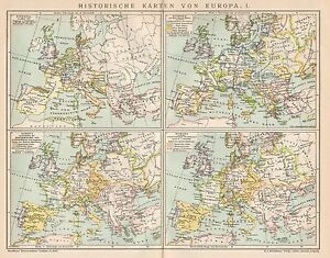Cartina Storica Dell Europa.Dettagli Su B6265 Carte Storiche Dell Europa Carta Geografica Antica Del 1902 Old Map